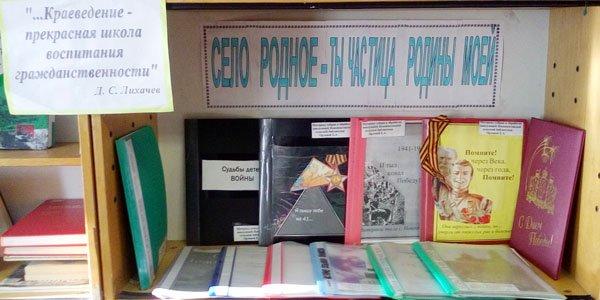 Новоипатовская сельская библиотека выст